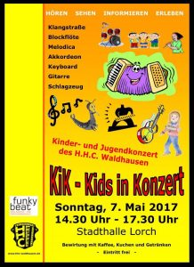 KiK - Kids in Konzert - Kinder und Jugendkonzert @ Stadthalle Lorch