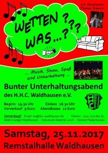 Wetten was...??? - Bunter Unterhaltungsabend @ Remstalhalle Waldhausen | Lorch | Baden-Württemberg | Deutschland