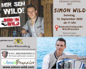 WKS 2020: Frühschoppen mit Simon Wild @ Remsmittelpunkt Waldhausen